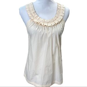 J.Crew Pleated Front Crossed Back Cami Top Size 8